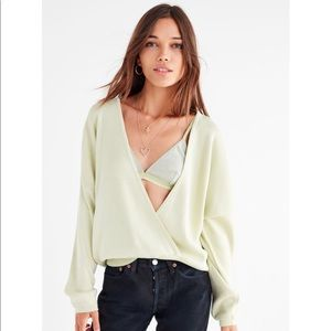 V Surplice Sweater